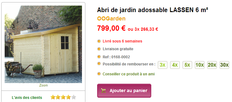abri de jardin adossable notre s lection abri de jardin. Black Bedroom Furniture Sets. Home Design Ideas