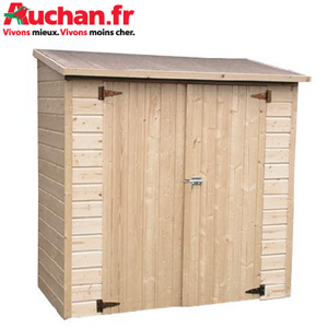 des abris bois auchan partir de 169 abri de jardin. Black Bedroom Furniture Sets. Home Design Ideas