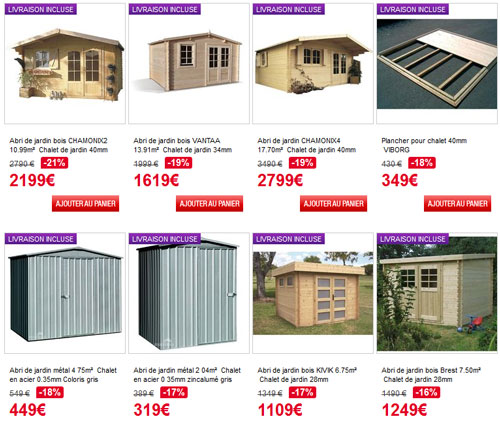 abri de jardin pas cher les meilleures offres du moment. Black Bedroom Furniture Sets. Home Design Ideas